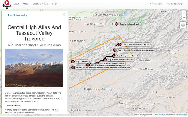 Central High Atlas and Tessaout Valley Traverse screenshot