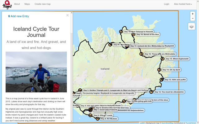 Iceland Cycle Tour Journal screenshot